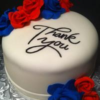 Thank You Cake by Nikki Belleperche