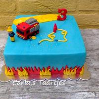 Fire Department Cake
