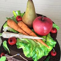 Cake for gardener