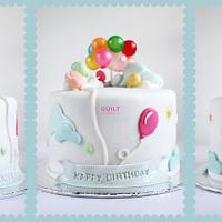 Balloons Birthday Cake by Guilt Desserts