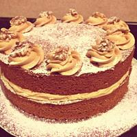 Coffee and Walnut Cake.