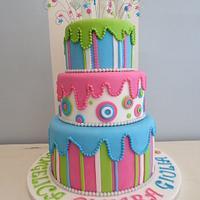 Disco party cake