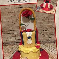 Split cake beauty and the beast/oscars