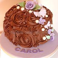 Chocolate rose floral cake