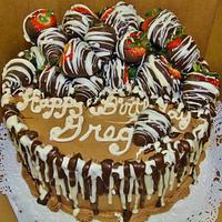 Chocolate decadence covered in strawberries!!!