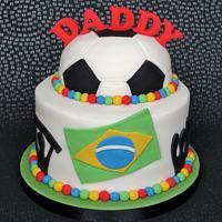 World Cup Birthday Cake