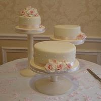 Vintage Wedding Cake Trio by Claire