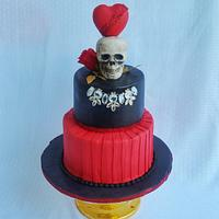 Love Till Death theme cake