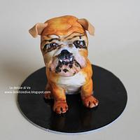 ENGLISH BULLDOG CAKE TOPPER by le delizie di ve