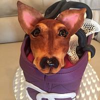 Dog in her purse