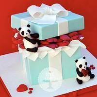 Valentine's Day Tiffany Box by Lesley Wright