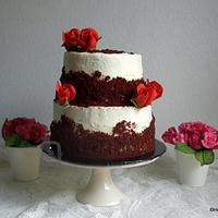 Justin & Yrelle's wedding cake