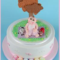 A Christening Cake for a Little Girl