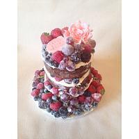 Fruity naked birthday cake!