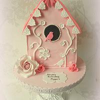 Garden Birdhouse Cake