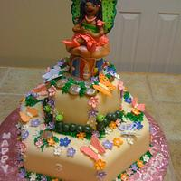 Butterfly Fairy Birthday cake