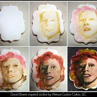 Bowie inspired cookie ~ process photos