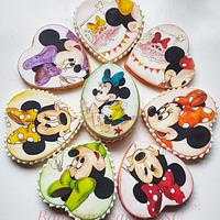 Minnie mouse cookies set