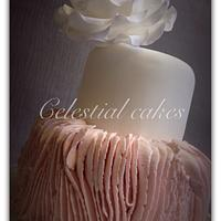 Pink ribbon ruffle