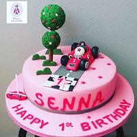 Race car girly cake