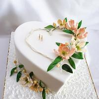 Wedding heart cake