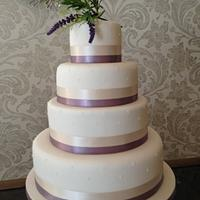 Lavender & Lace wedding cake by Nina Stokes