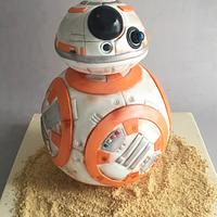 BB-8 Star Wars Cake