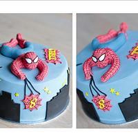 spiderman cake by Amelis