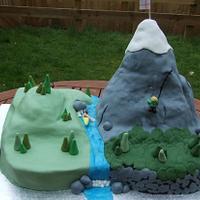 Mountain wedding cake by jennie