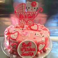 Hello Kitty Shower Cake