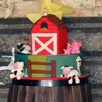 Farm Barn Cake by Lydia