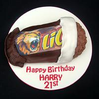 Lion Bar Cake