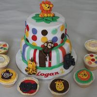 Jungle themed cakes :) by Sue
