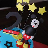 Mickey Mouse Two Tier by Baby Got Cakes
