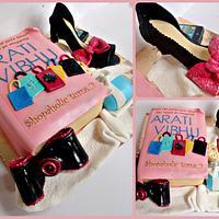 Shopoholic book cake