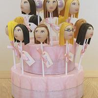 13th Birthday Party Cake Pop Display