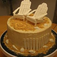 Day at the Beach Anniversary Cake by Becky Pendergraft