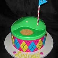 Girly Golf Cake