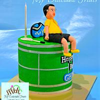 Badminton themed cake for Ghino by Donna Dolendo