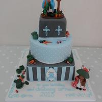 Peter Rabbit Christening and Birthday cake