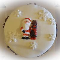 Santa & Rudolf cake