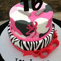 Zebra / Camo Cake
