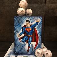 Handpainted Superman Cake