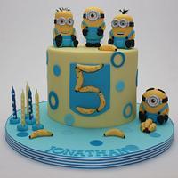Minion 5th Birthday Cake