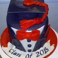 Tuxedo Graduation Cake