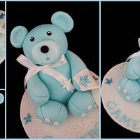 Cameron the Teddy Bear cake topper