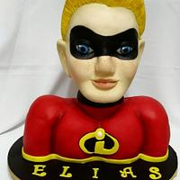 Dash the incredibles bust cake