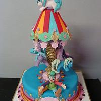 My little pony carousel cake