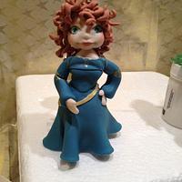 Merida brave cake topper