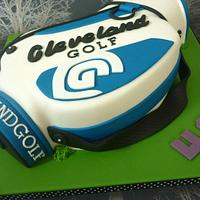 Cleveland golf bag 40th birthday cake
